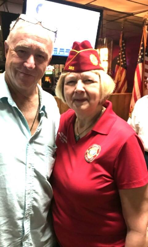 National Commander Denise Rohan and Kent Wallace
