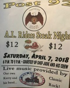 Riders Steak Dinner